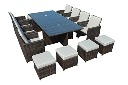 Amazon.com: Direct Wicker - Juego de mesa cuadrada de mimbre ...