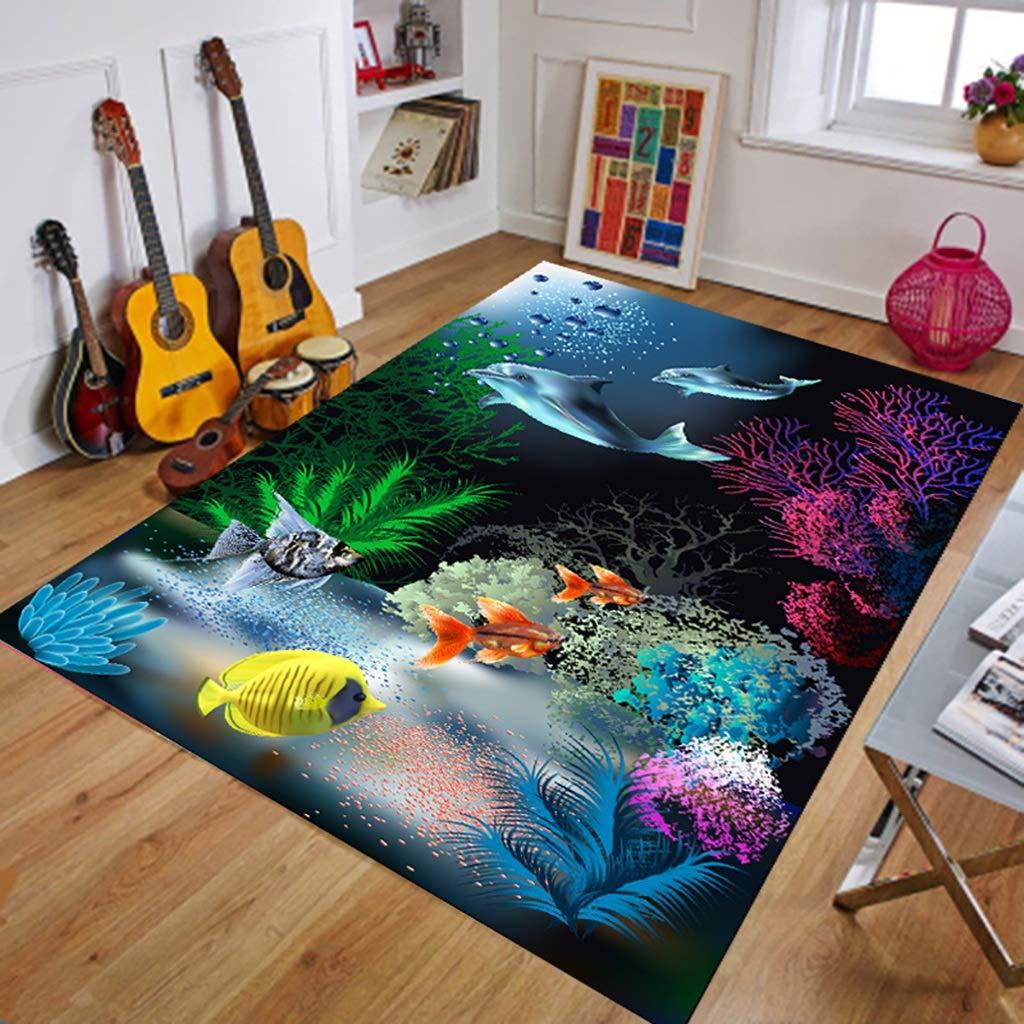 XJRHB Korridor Läufer Teppich Flur Teppich Wohnzimmer Couchtisch rechteckigen Teppich 3D Eingang Schlafzimmer waschbar Weichen Boden Rutschfestigkeit Dicke 8mm 6 einfarbig
