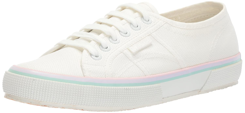 Superga Women's 2750 COTW3STRIPE Sneaker B073ZMV8MW 37.5 M EU (7 US)|White Multi