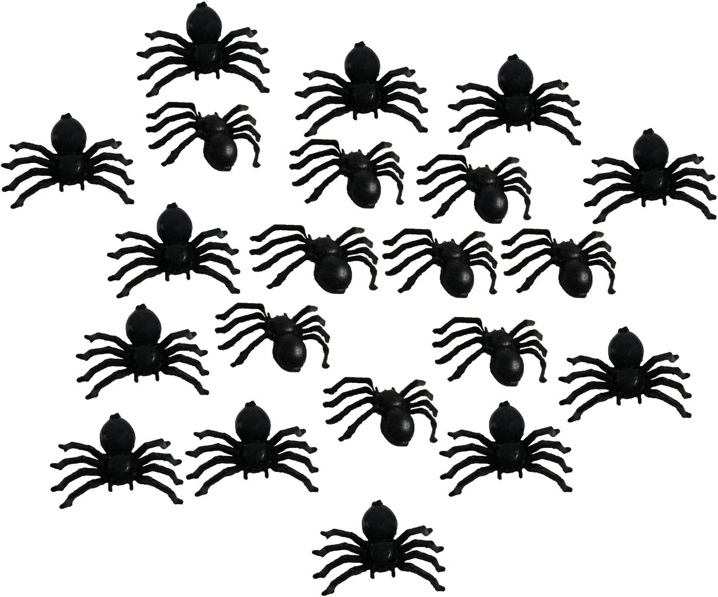 Popmall Scary Halloween Spider, Realistic Fake Hairy Black Spiders for Halloween Parties Haunted Outdoor Decor