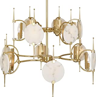 "product image for Robert Abbey 528 Jace 32"" Chandelier with Alabaster Accents"