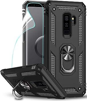 LeYi Funda Samsung Galaxy S9 Plus Armor Carcasa con 360 Anillo iman Soporte Hard PC y