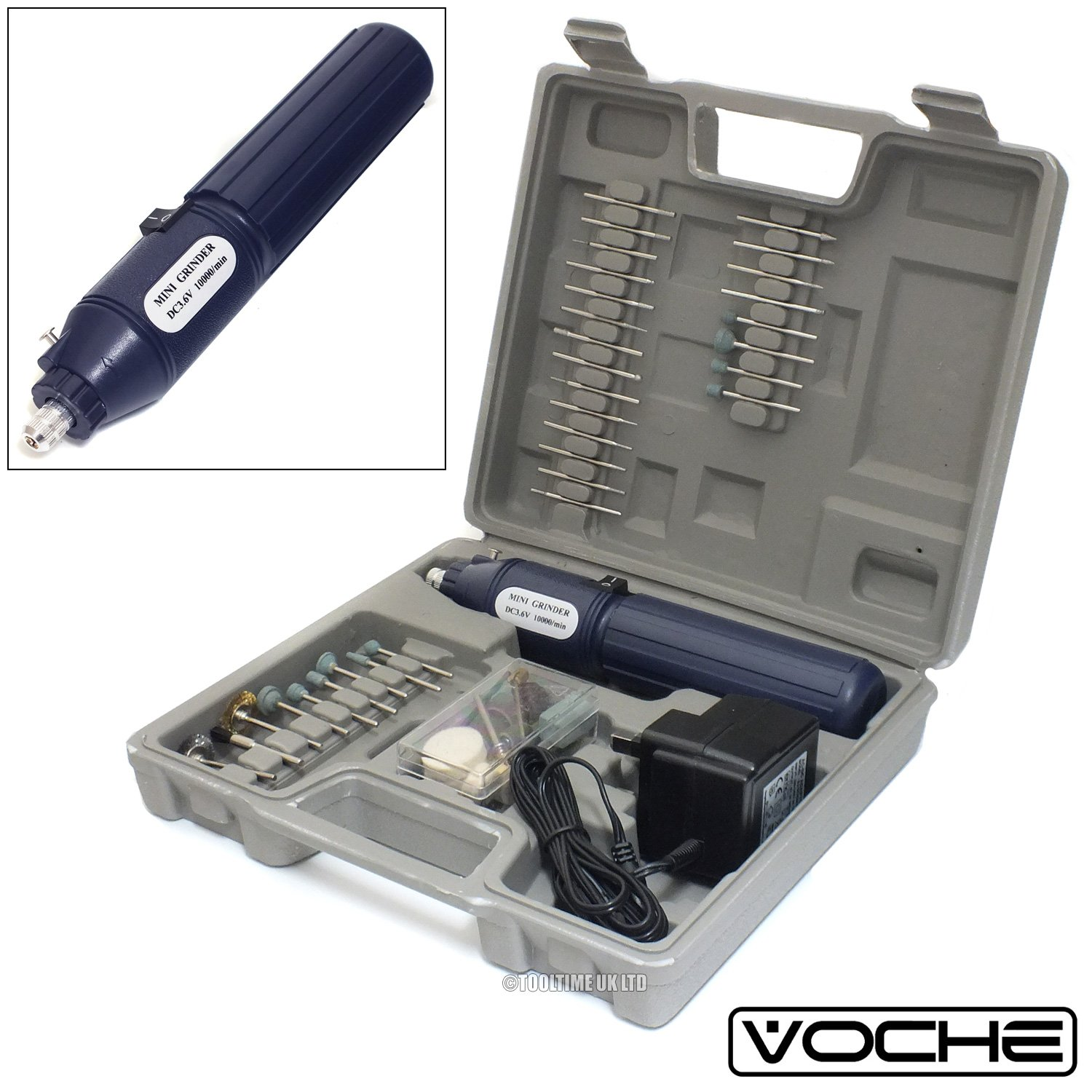 Voche® Cordless Rechargeable Mini Rotary Dremel Style Drill with 100 Accessories and Case Voche®