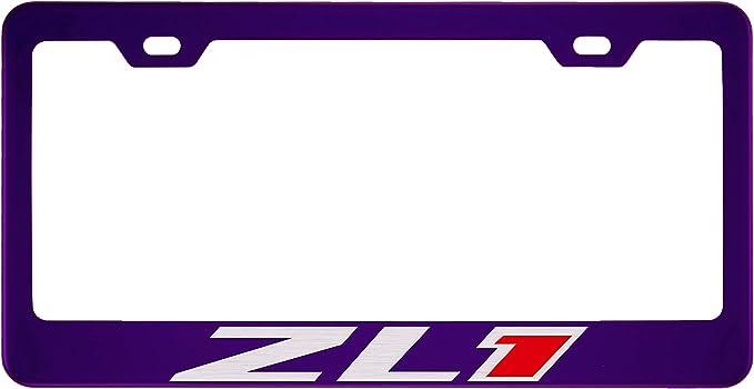 Zinc Chevy Chevrolet Mirror Purple License Plate Frame