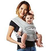 Baby K'tan Original Baby Carrier, Heather Grey – Women 2-4 (XS) / Men jacket up to 36 - Newborn Sling– Infant, Child Wrap (newborn to -35lbs)
