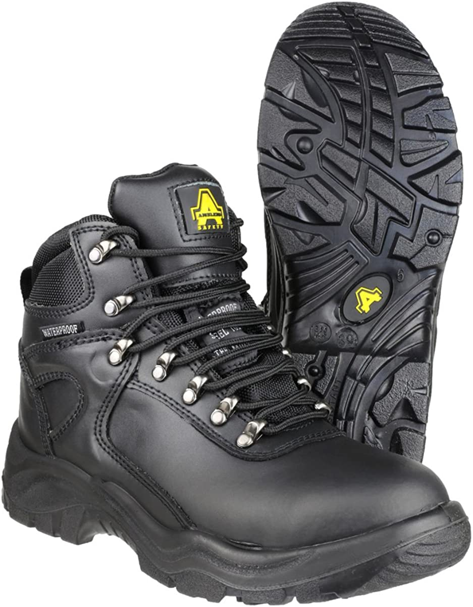 3 UK Boots Safety Womens Boots Amblers Steel FS218 W//P Safety Black
