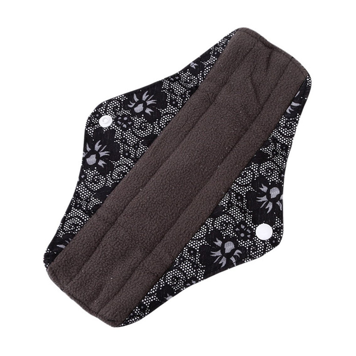 Yesiidor Black Cloth Menstrual Pads Reusable Sanitary Napkins - Perfect For Heavy Flow Or Overnight Avoid Leaks M