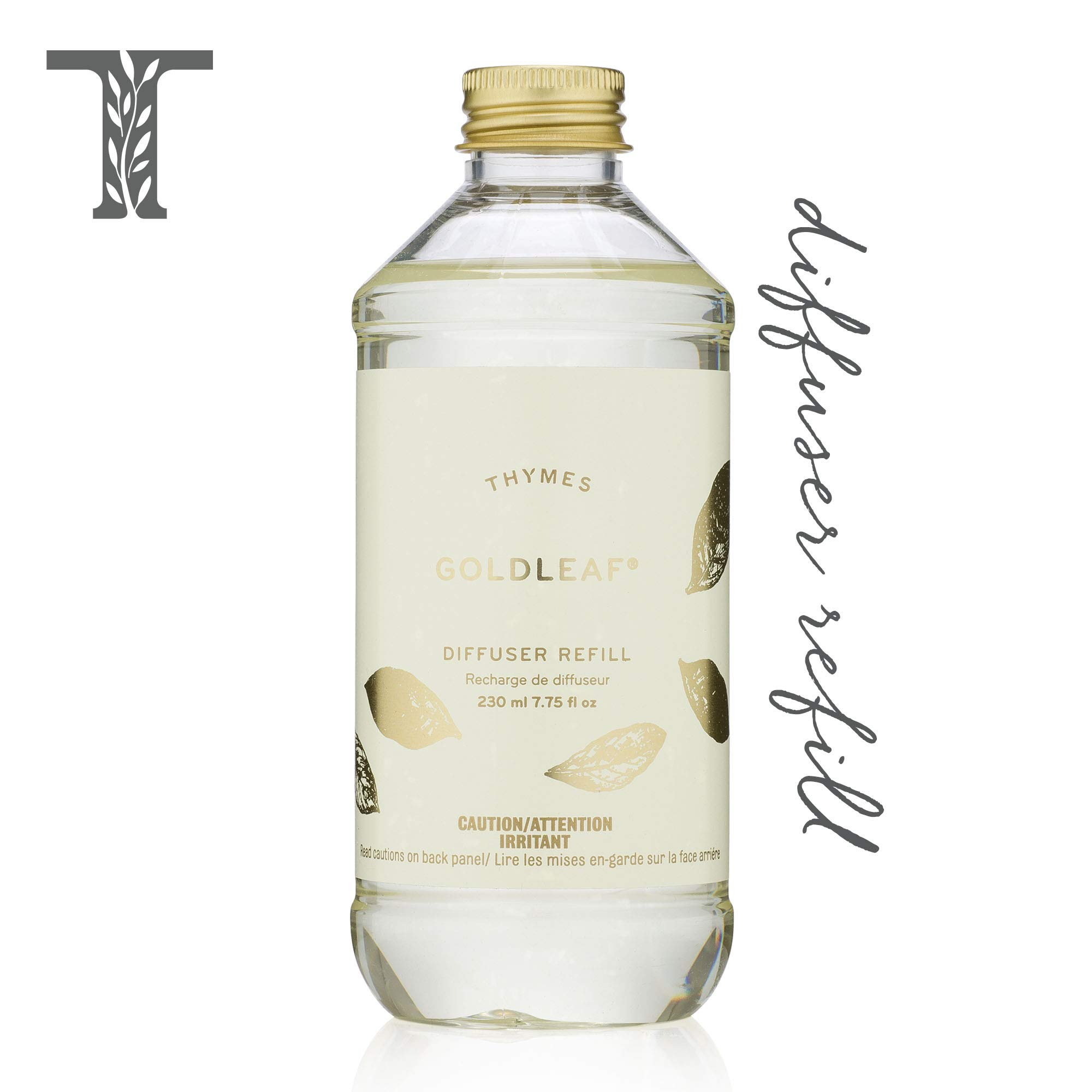 Thymes - Goldleaf Aromatic Diffuser Oil Refill - Large Bottle with Elegant Floral Scent - 7.75 oz by Thymes
