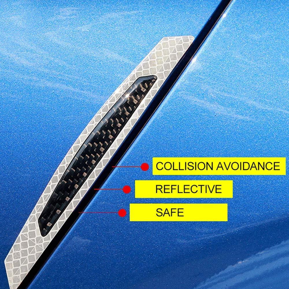 Protector Puertas Coche Blanco Anticolisi/ón Antiara/ñazos Impermeable Tira de Parachoques Borde Espejo Retrovisor Universal para Auto//Cami/ón//SUV OFZVEO 4pcs Protectores de Borde de Puerta de Coche
