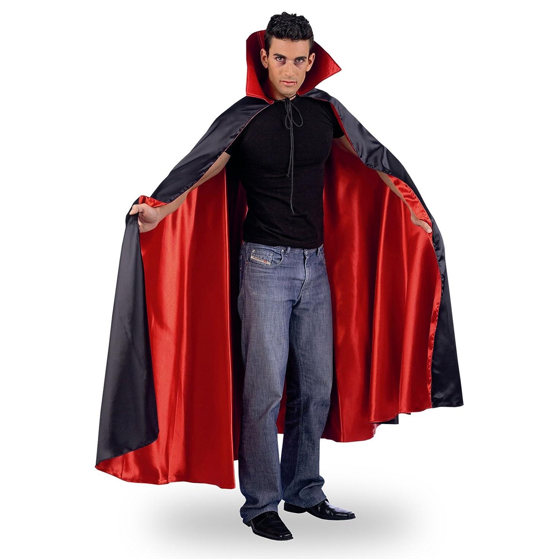 Halloween Dracula Vampire Cape  Black Red  XL