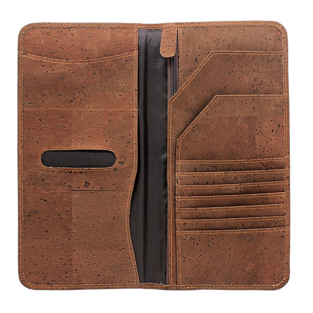 Boshiho Eco-friendly Cork Passport Cover Case Passport Wallet Ticket Organizer (Brown)