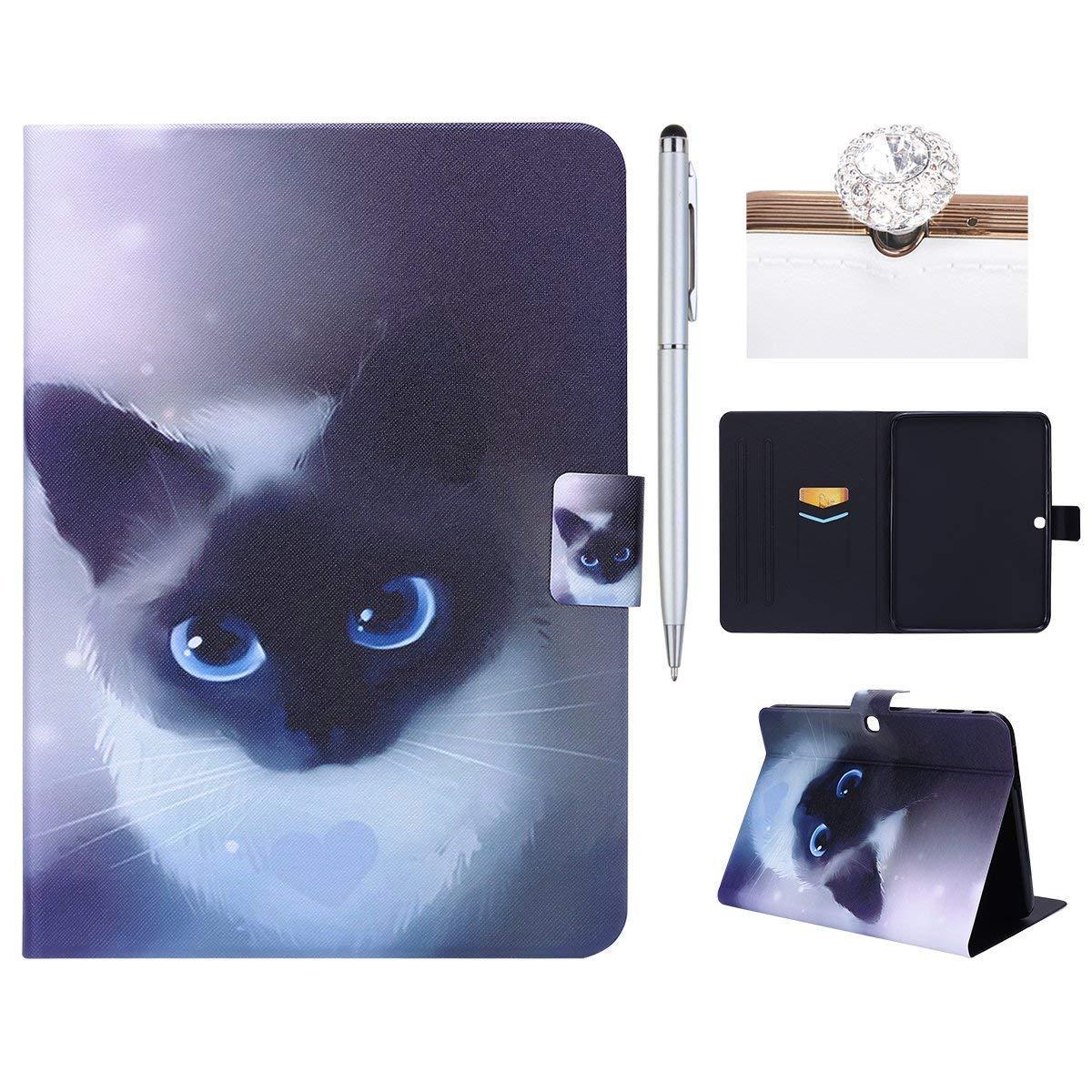 Felfy Kompatibel mit H/ülle Samsung Galaxy Tab 3 10.1 P5200 P5210 Case Pink Liebe Muster PU Leder H/ülle Smart Flip Case Tasche mit Automatischem Schlaf Funktion und Standfunktion,EINWEG Verpackung