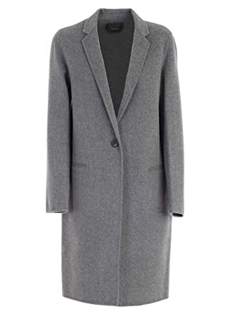 d86ae04db61 Amazon.com: Theory Women's Divide Wool Cashmere Essential DF Coat, Melange  Grey, Small: Clothing
