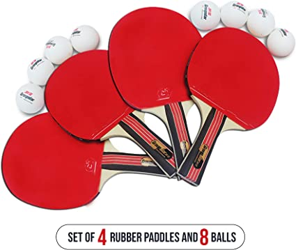 Raqueta De Tenis Mesa Pelotas De Ping Pong Para Adultos, Niños Y ...
