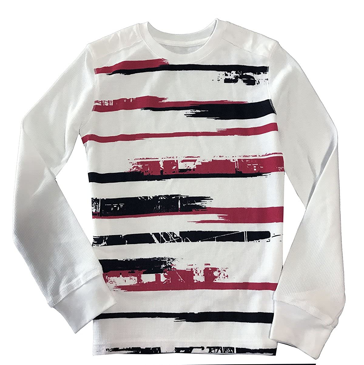 53249e28d Amazon.com: Epic Threads Boys' Long-Sleeve Graffiti Stripe Thermal T-Shirt  Bright White: Clothing