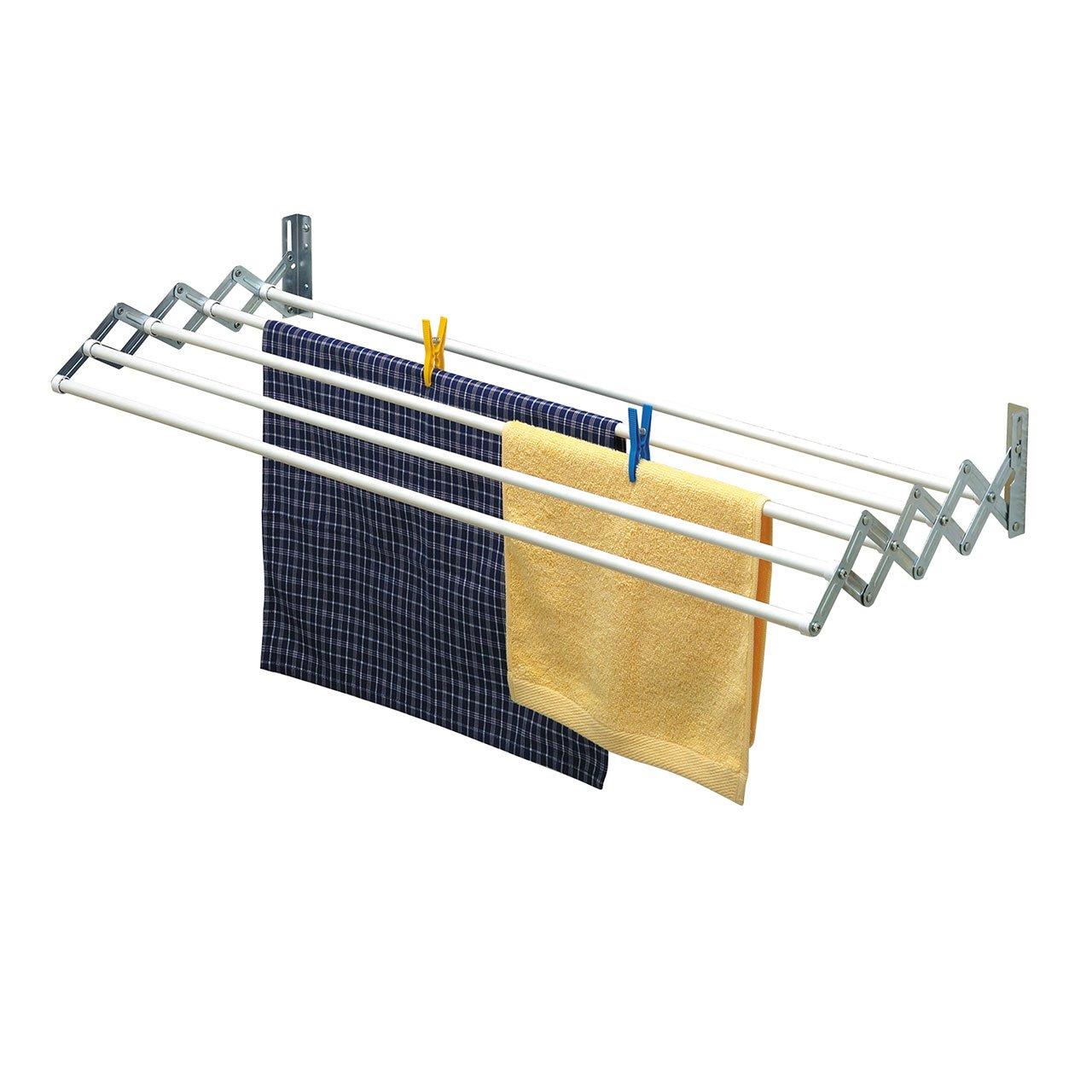 Tendedero de Pared con 3 Cuerdas Rayen 0023 Color Blanco