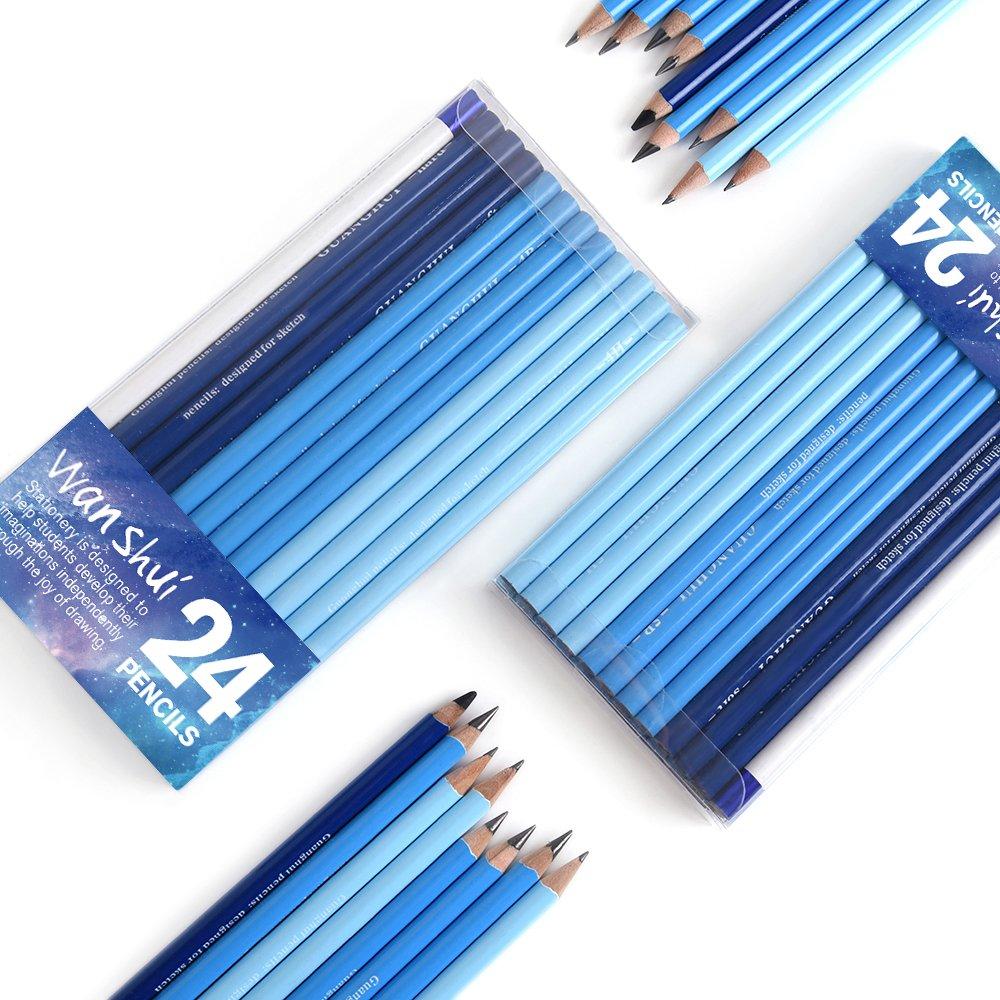 amazon com 24 sketch pencils professional art sketching pencils
