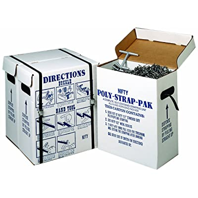 """Nifty Products SPSPKIT 252 Piece Polypropylene Portable Strapping Kit, 3000' Length x 1/2"""" Width Coil, Black: Securing Straps: Industrial & Scientific"""