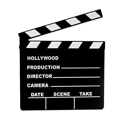 Lights Camera ACTION Clapboard