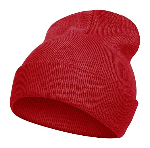 Topheadwear Long Beanie - Red at Amazon Men s Clothing store  Skull Caps 3abb0a2474d