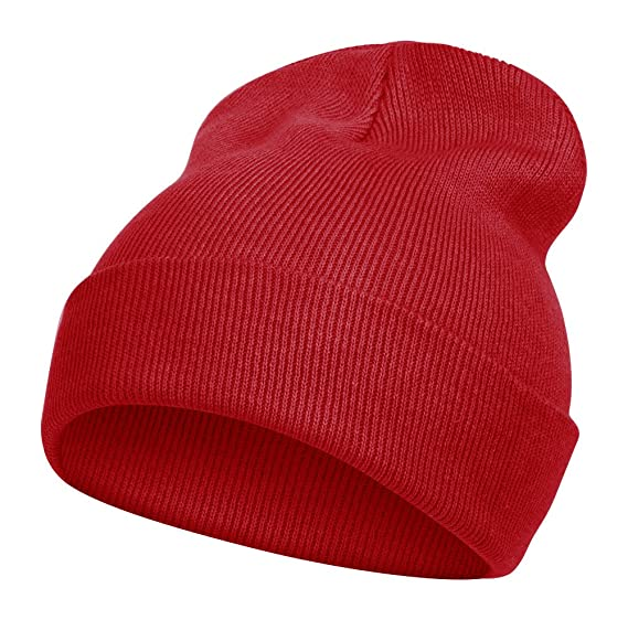 80087c9b TopHeadwear Long Beanie - Red at Amazon Men's Clothing store: Skull Caps