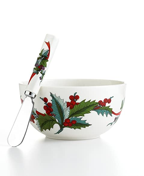 Martha Stewart Collection Dinnerware Holiday Garden 2 Piece Dip Set  sc 1 st  Amazon.com & Amazon.com | Martha Stewart Collection Dinnerware Holiday Garden 2 ...