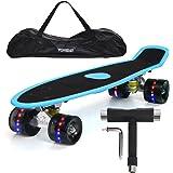 """Yorbay 22"""" Mini Cruiser Skateboard Cuscinetti a Sfera ABEC-7 Vari Colori e Diversi Tipi di Ruote a Scelta"""