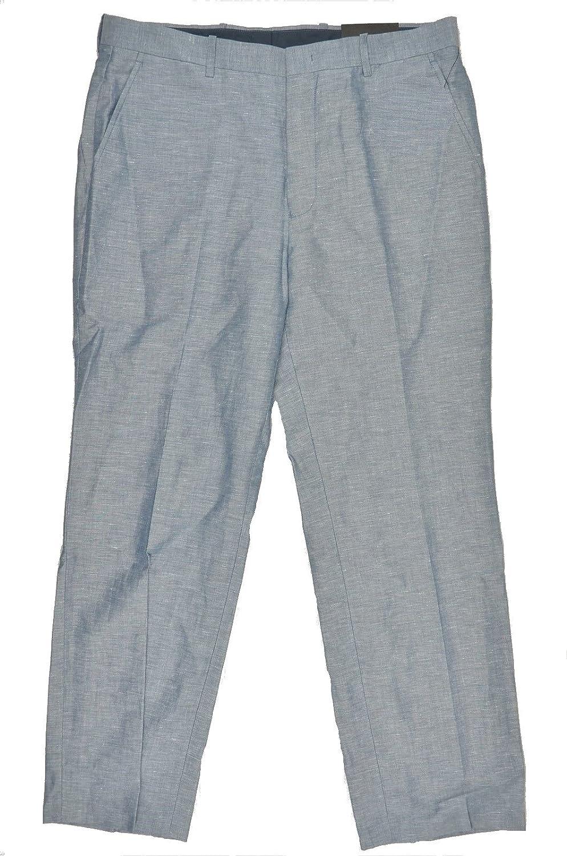 I-N-C Mens Regular Fit Linen Dress Slacks