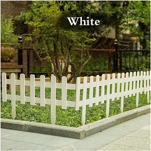 ZENGAI-vallas De JardíN Cerca Cerca del Borde Cortar Boda Partido Barandilla Patio Al Aire Libre Fácil De Instalar 3 Colores 3 Tallas (Color : White, Size : 63X20CM): Amazon.es: Jardín