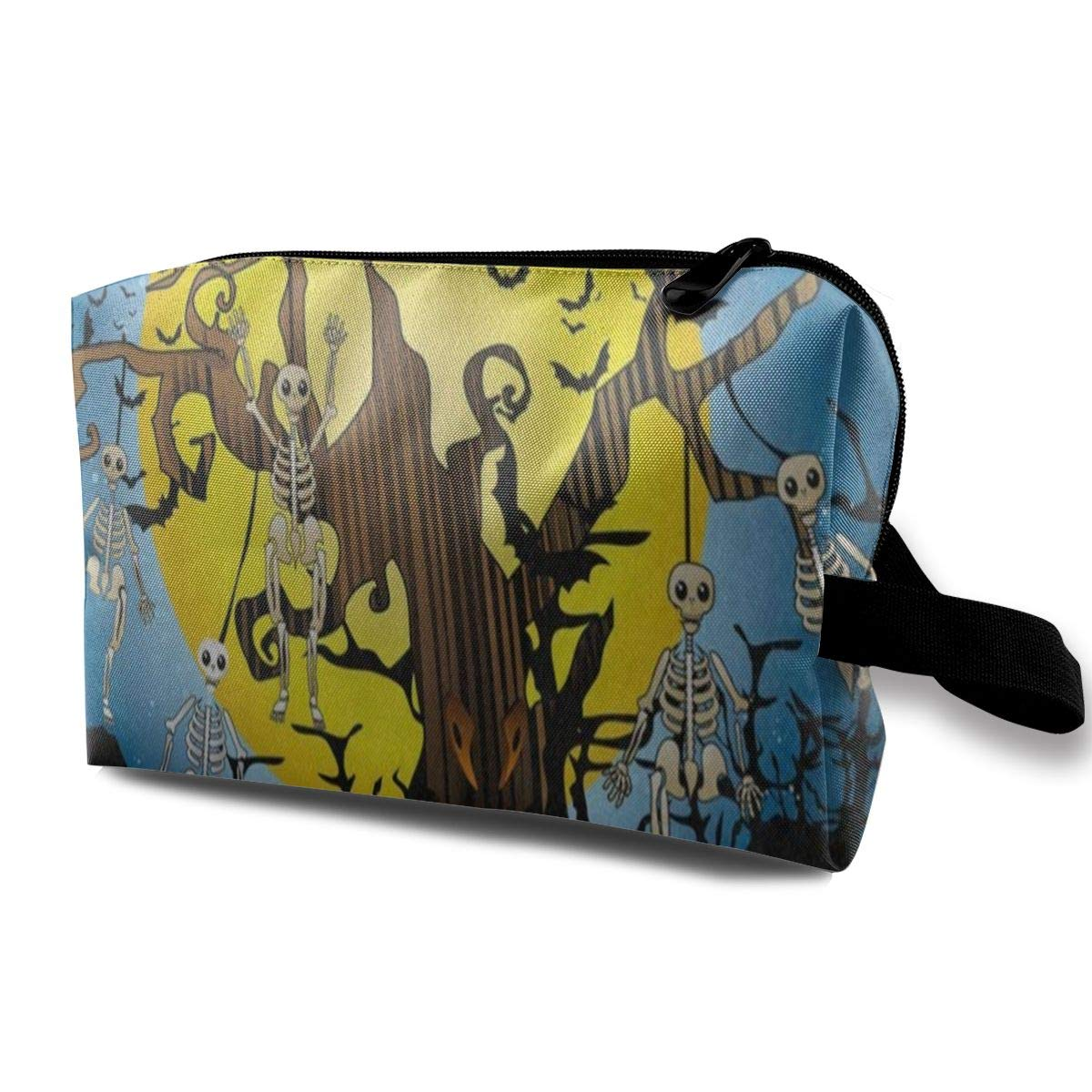 Makeup Bag Halloween Skull Tree Candle Bald Tree Handy Travel Multifunction Clutch Pouch Bags Hot Holder For Women
