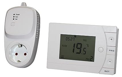 INROT 70085 - Sistema de calefacción a distancia, programable (termostato inalámbrico con receptor)