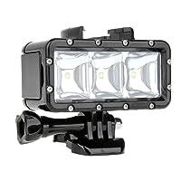 SHOOT Immersione Luce Illuminazione Subacquea LED per GoPro Hero 6/5/4/3+/3/HERO(2018)/Fusion,Fotocamera Digitale Impermeabile,30m Impermeabile,300LM Luce per la Pesca Notturna,Ciclismo,Caccia,Campeggio,Esplorare,con 1200mAh Batteria Ricaricabile Accessori Acqua