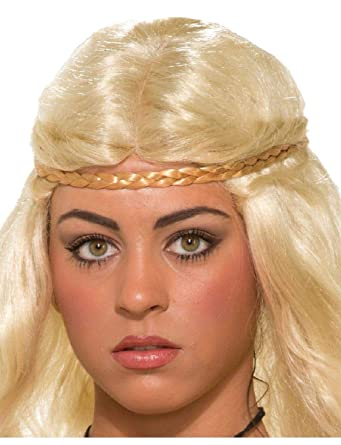 Amazon.com  Ick Costume Blonde Medieval Fantasy Princess Hair Braid Headband  Accessory  Clothing 7148ff6e1a4