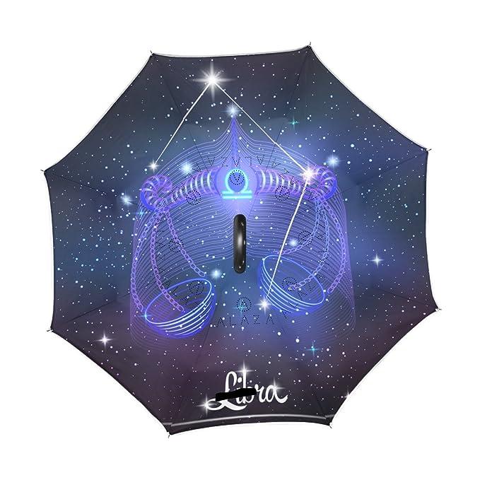 Amazon.com: Constelación Signo del Zodiaco Libra paraguas ...