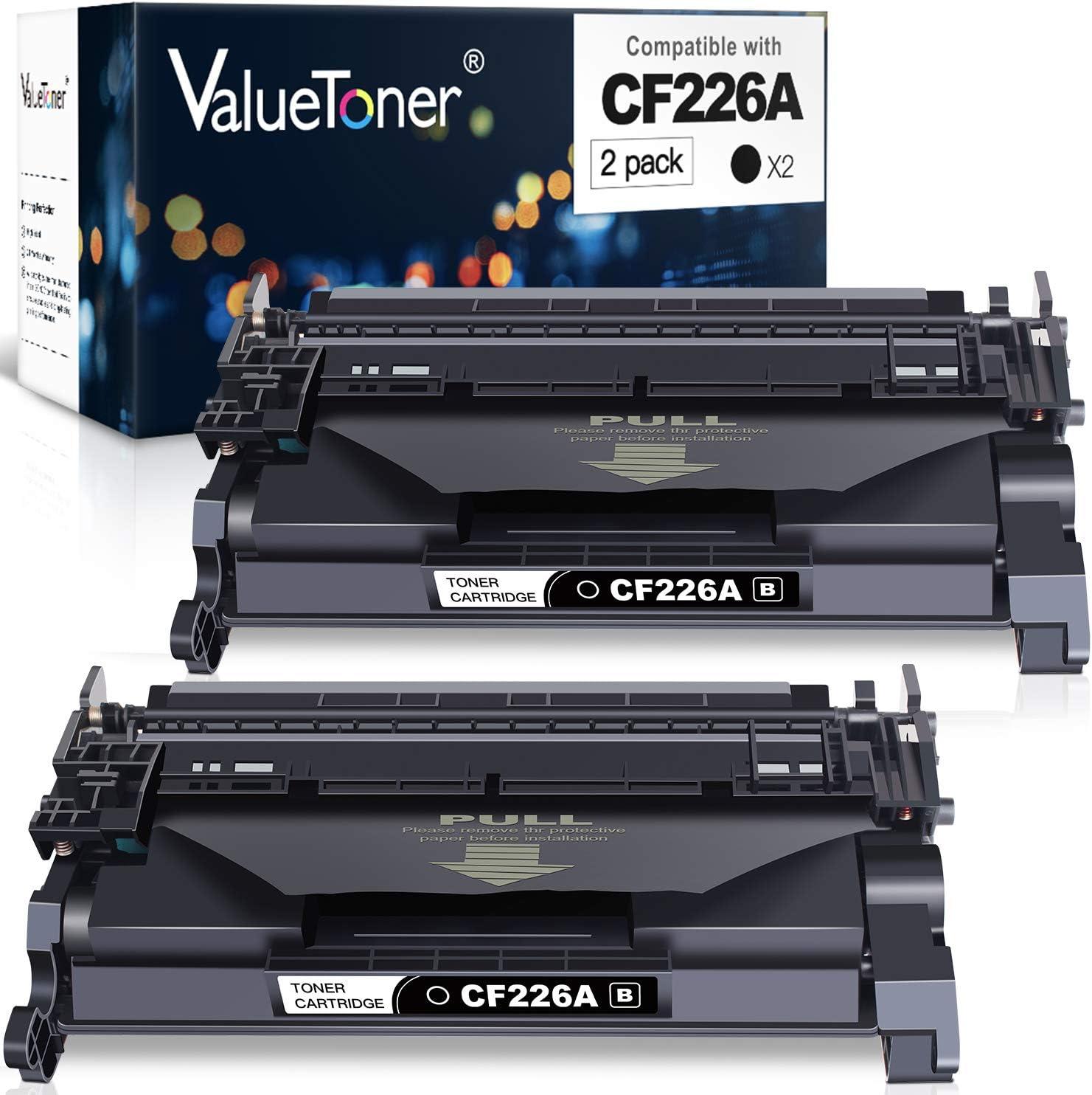 Valuetoner Compatible Toner Cartridge Replacement for HP 26A CF226A 26X CF226X Used for Laserjet Pro M402n M402dw M402dn Laserjet Pro MFP M426fdw M426dw Printer (Black, 2 Pack)