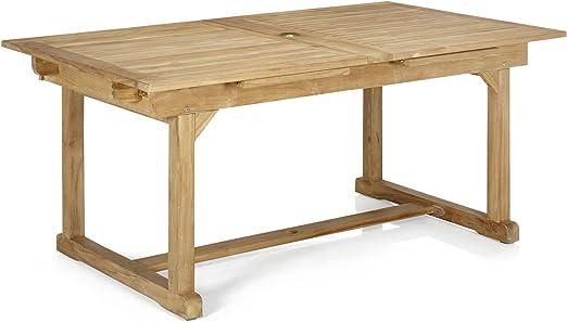 Alinéa Nux Table avec rallonges en Teck Massif Naturel 170.0 ...