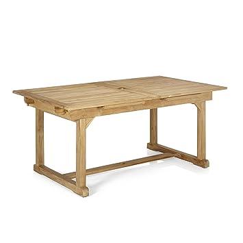 Nux Table avec rallonges en teck massif Naturel - Alinea ...