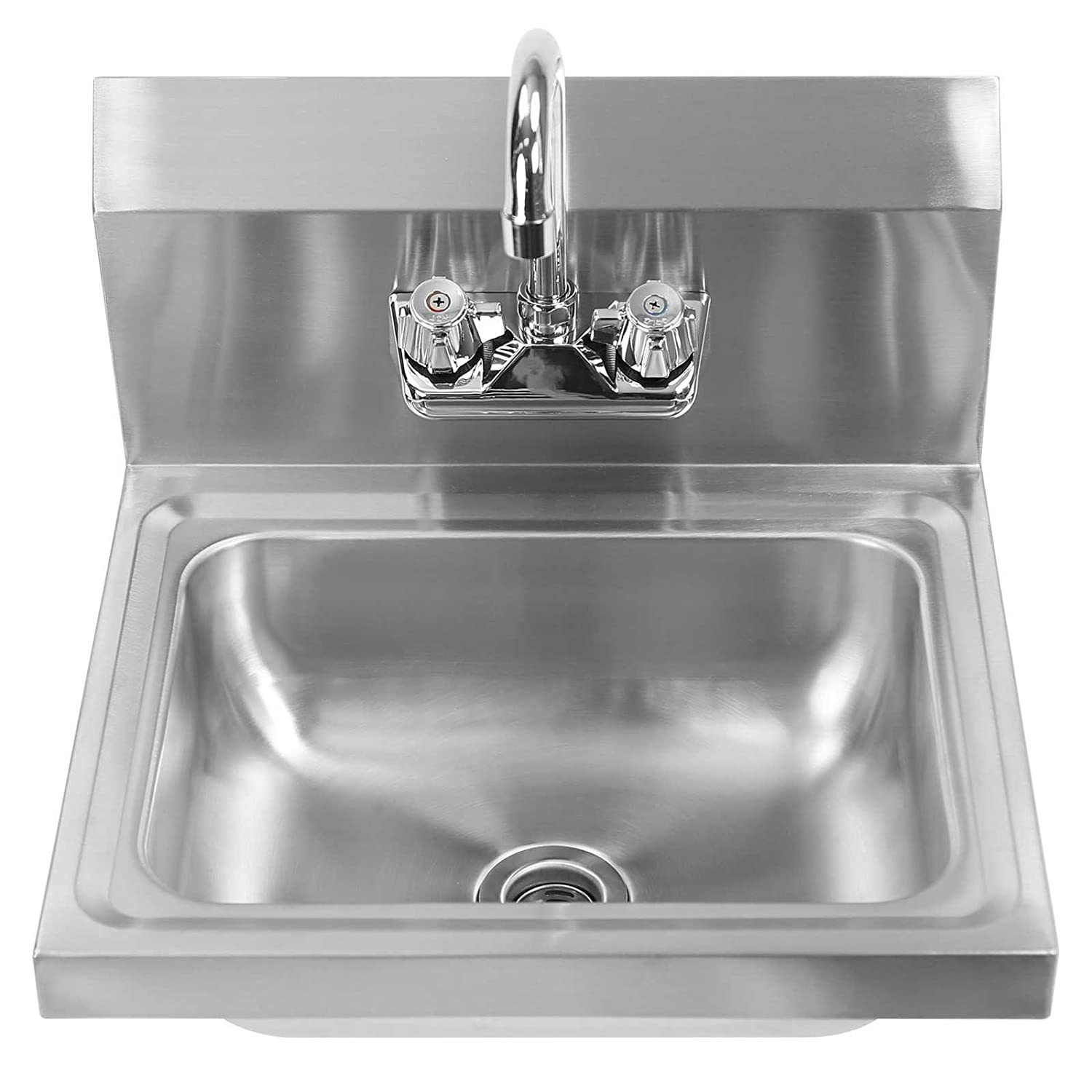 Gridmann Commercial NSF Stainless Steel Sink   Wall Mount Hand Washing Basin  With Faucet     Amazon.com