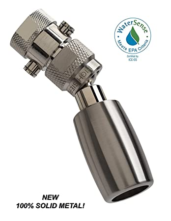 high all metal watersense certified 15 gpm high efficiency low flow showerhead with trickle valve