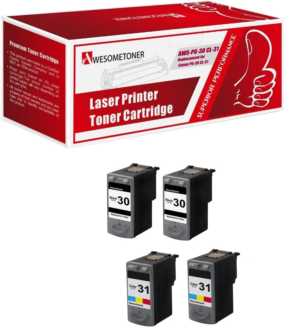 PG-30 Black or CL-31 Color Remanufactured Ink Cartridge For Canon Pixma MP210