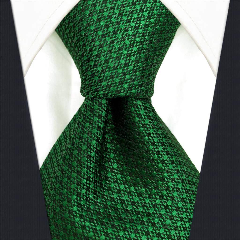 S&W SHLAX&WING Color Sólido Verde Corbatas Para Hombre Traje de ...