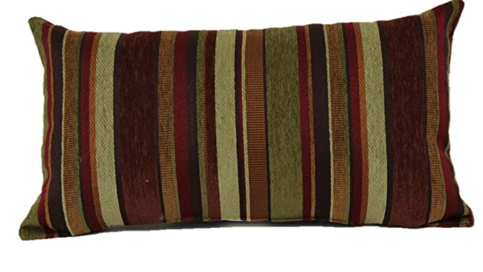 Amazon.com: Brentwood Originals Carnival Stripe Toss Pillow ...