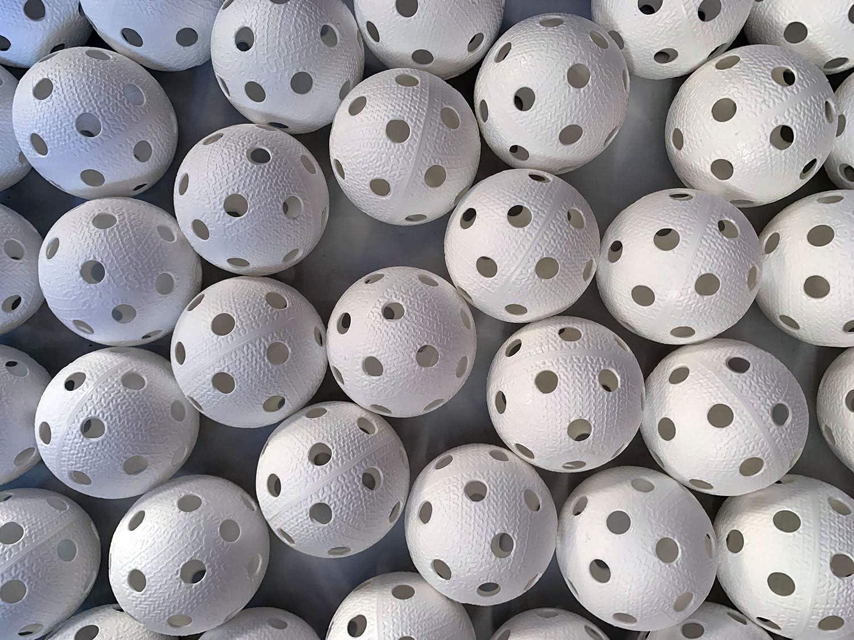 Realstick - Pelota de Floorball (50 Unidades), Color Blanco ...