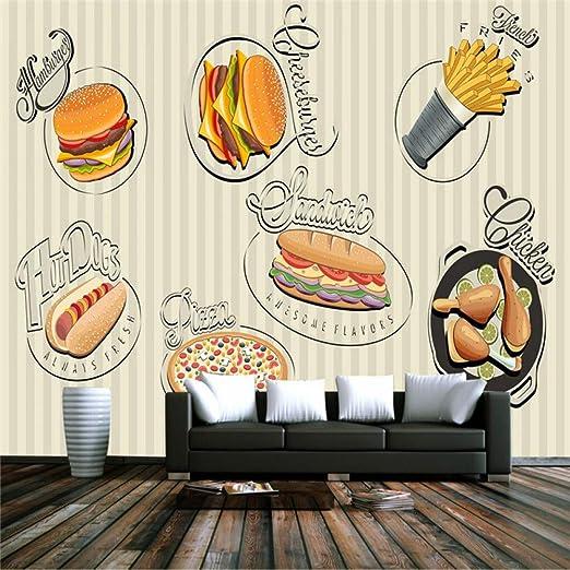 Amazhen Personalizar Grandes murales Fondo de Restaurante de ...