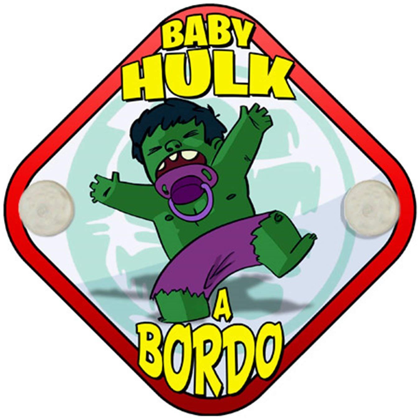 Placa beb/é a bordo Baby Hulk a bordo