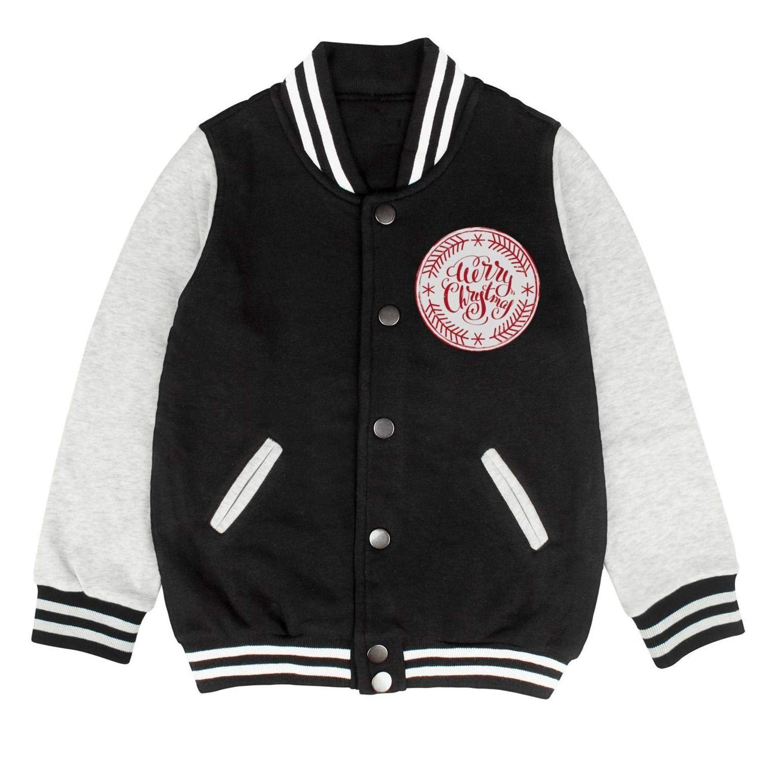 epoyseretrtgty Autumn Kids Girls Cotton Printing Stamp Christmas Comfortable Baseball Jacket Sweater Coat
