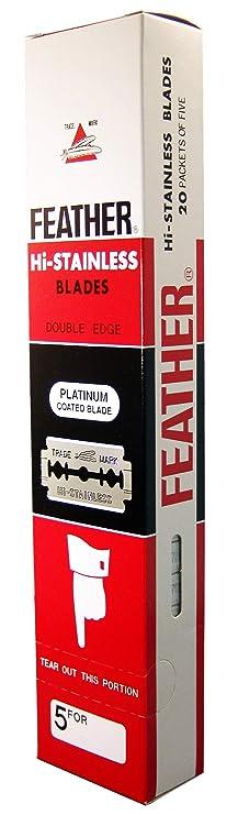 100 Feather Razor Blades NEW Hi-stainless Double Edge Women's Manual Razors at amazon