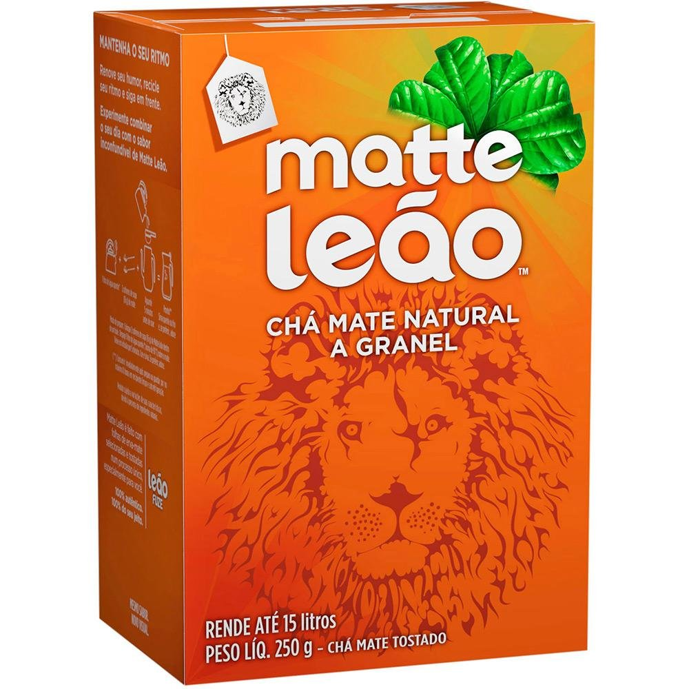 Amazon.com : Leão - Mate Tea - Natural Whole Grain Tea - Roasted Tea - 8.82 Oz (PACK OF 1) | Natural Matte Tea In Bulk - Toasted Mate Tea - 250g ...