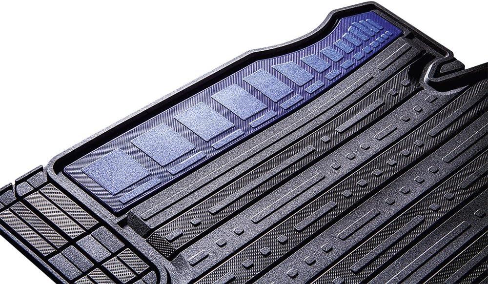 CarFashion 266889 Silverstone CD2 All-Weather 2 Piece TPE Rubber Black Colour Insert Aruba Blue Car Floor Set Without Mat Holder 2-teilig