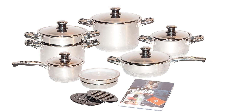Millerhaus Sas17 H Bater A De Cocina En Acero Inoxidable De 17  ~ Baterias De Cocina Para Placas De Induccion